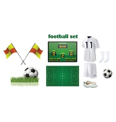 football kit accessories vector image vector image