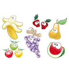Fruit characters vector