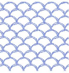 Gold glitter mermaid tail seamless pattern vector