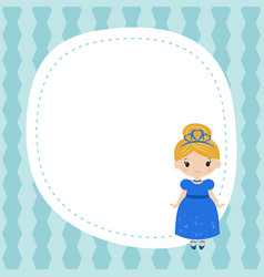 greeting card with beautiful princesses greeting vector image vector image