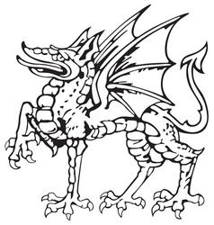 Heraldic dragon no5 vector