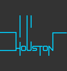 Houston text design calligraphy vector