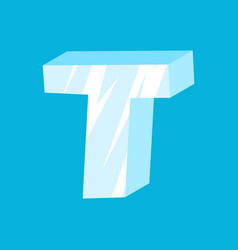 letter t ice font icicles alphabet freeze vector image