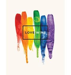Love Wins vector image