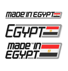 Made in egypt vector
