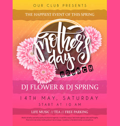 mothers day event poster vector image vector image