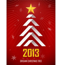 Origami New Year Tree vector image vector image