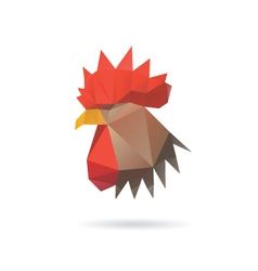 Rooster head isolated on a white backgrounds vector image