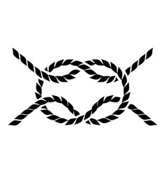 rope icon simple style vector image