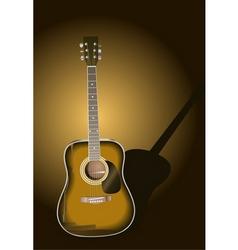 sunburst guitar vector image vector image