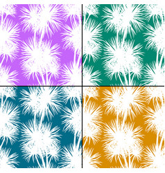 Tropical palms silhouettes seamless vector