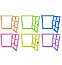 Window frames vector image vector image