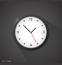 Black clock on dark background vector