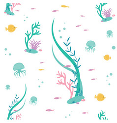 flat seamless pattern of elements the vector image