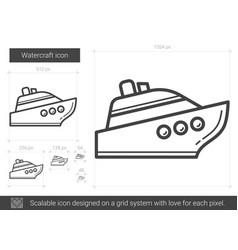 Watercraft line icon vector