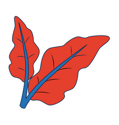 Leaves natural foliage botanical orgnanic vector