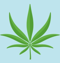 The sheet of hemp in flat style vector