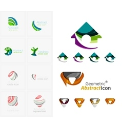 Universal abstract geometric shapes - business vector