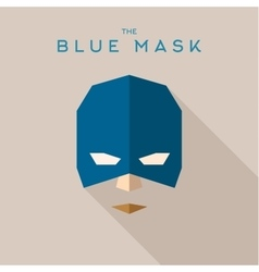 Blue mask superhero into flat style vector