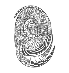 Drawing decorative snake pattern vector