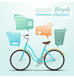 Bicycle or bike related fitness and sports vector
