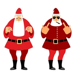 Bad and good santa claus wicked christmas santa vector