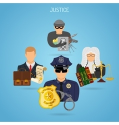 Fairness and justice concept vector