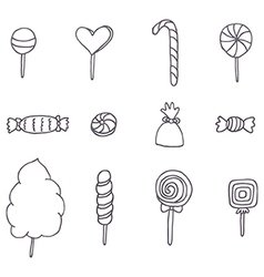 Sweets and candies vector