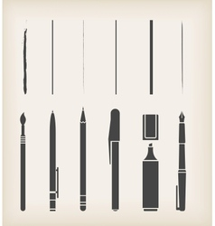 Pen pencil marker brush vector