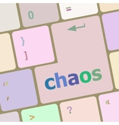Chaos keys on computer keyboard business concept vector