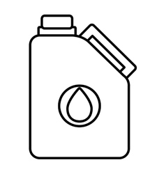 Isoalted oil container graphic vector