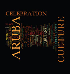 Aruba culture text background word cloud concept vector