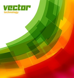 Background with green and yellow blurred lines vector