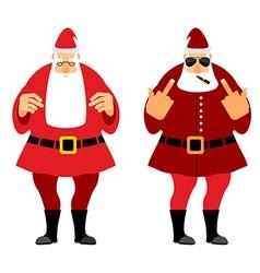 Bad and good santa claus wicked christmas santa vector