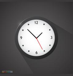Black clock on dark background vector
