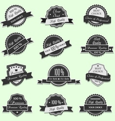 Black Premium Quality labels vector image vector image