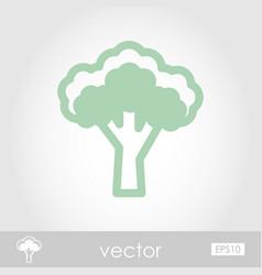 Broccoli outline icon vegetable vector