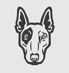 Bull Terrier Head Logo Mascot Emblem vector image vector image