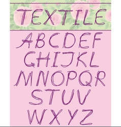 capital letters textil vector image