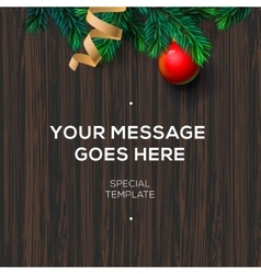 Christmas decoration on the wooden background vector