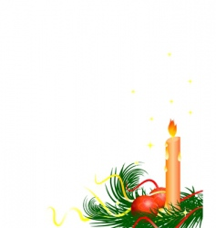 Christmas tree candle vector image vector image