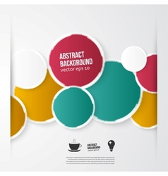 Color circles abstract background vector