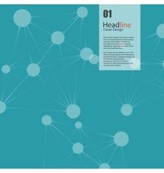 Connect background headline design vector
