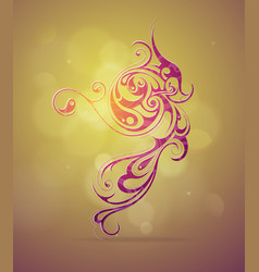 Elegant ornamental swirls design vector