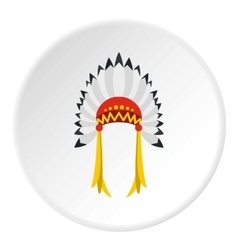Indian headdress icon flat style vector