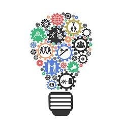 Lightbulb temawork Concept vector image vector image