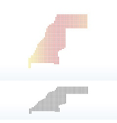Map of western sahara with dot pattern vector