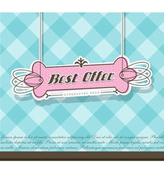 Pink Best Offer label vector image