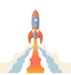 Rocket emblem isolated vector image vector image