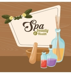 spa beauty and health elements treatment care vector image